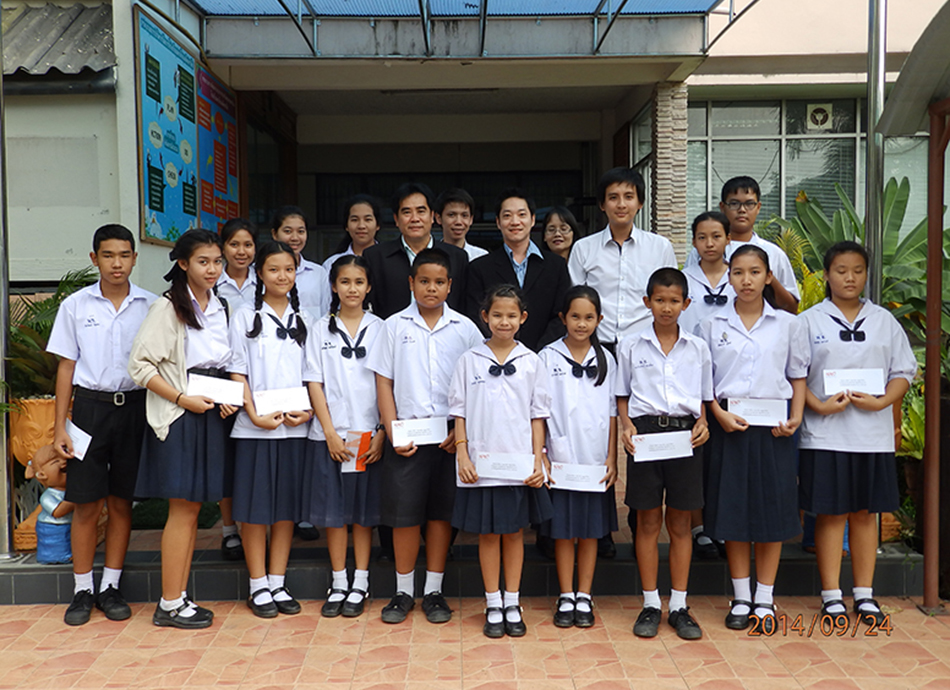 Scholarships to student at Prakanongpittayalai School