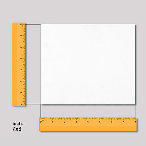 กระดาษใยสังเคราะห์ 7x8 นิ้ว